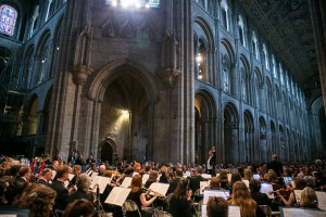 Cambridge Philharmonic Orchestra; Tim Redmond with Cambridge Chorus; Ely Cathedral, Ely; 11th July 2015. © Pete Jones pete@pjproductions.co.uk